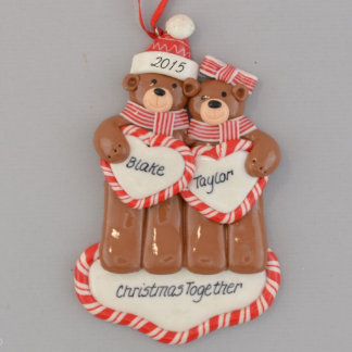 """Christmas Together"" Bears Personalized Ornament"