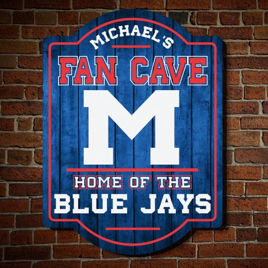 Fan Cave Personalized Game Room Sign