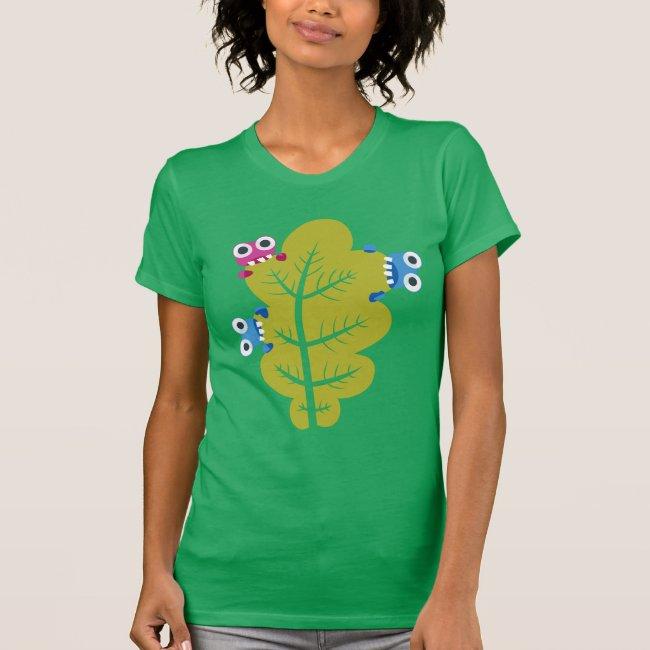 Cute Bugs Eat Green Leaf T Shirt