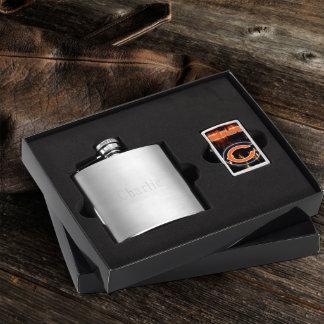 Brushed Flask & Chicago Bears NFL Zippo Lighter