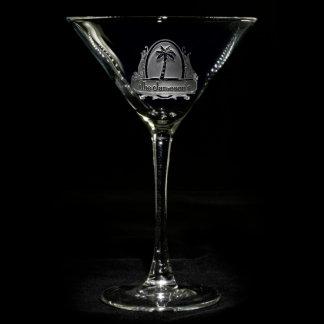 Vidrio personalizado paraíso tropical de Martini