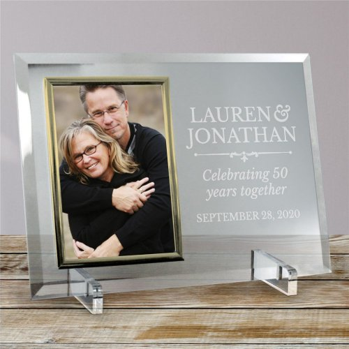 Memorable Silver_Trimmed Glass Picture Frame