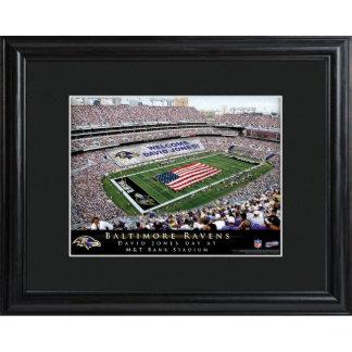 Baltimore Ravens Field Stadium Print w/Wood Frame