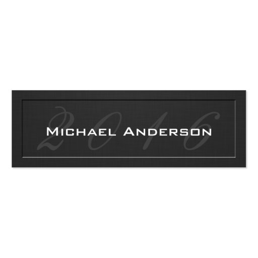 Elegant Embossed Senior Class Graduation Name Card Double-Sided Mini Business Cards (Pack Of 20)