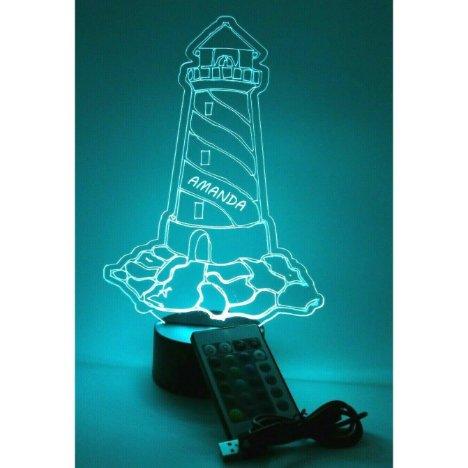 Nautical Lighthouse LED Night Light Lamp