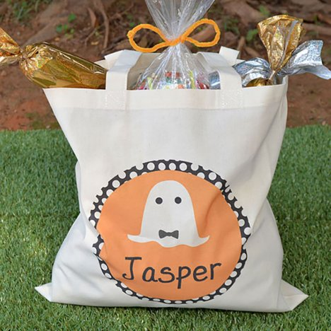 Personalized Boy Ghost Halloween Tote