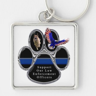 Support Law Eforcement Officers Keychain