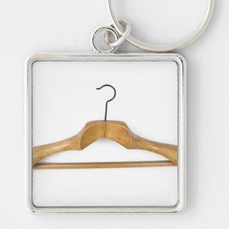 massive wooden coat hanger keychain