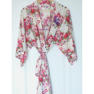 Floral Kimono Bridesmaid Robe