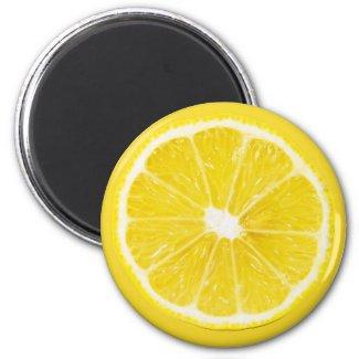 lemon slice 2 inch round magnet