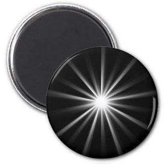 bright star in dark space 2 inch round magnet