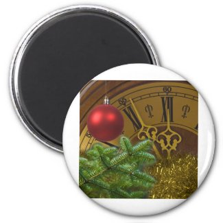New Year 2 Inch Round Magnet