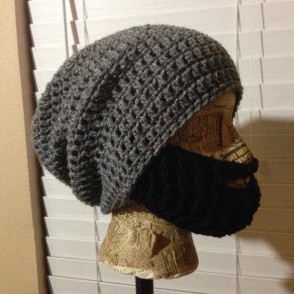 Crochet Beard Slouch Beanie - Fontana