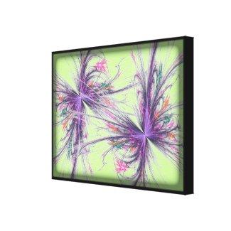 Elegant Butterfly Fractal Green Canvas Print