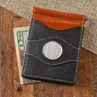 Personalized Leather Two-Toned Wallet w/Monogram