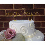 """Exquisite Artisan Wire Wedding Cake Topper<br><div class=""""desc"""">Each artisan wedding cake topper is handcrafted from sturdy aluminum wire (gold pictured). It won't rust or tarnish,  and with gentle care may be used over and over.</div>"""