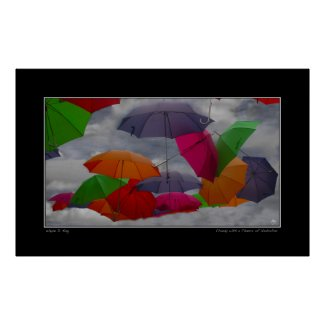 Cloudy with a Chance of Umbrellas Poster