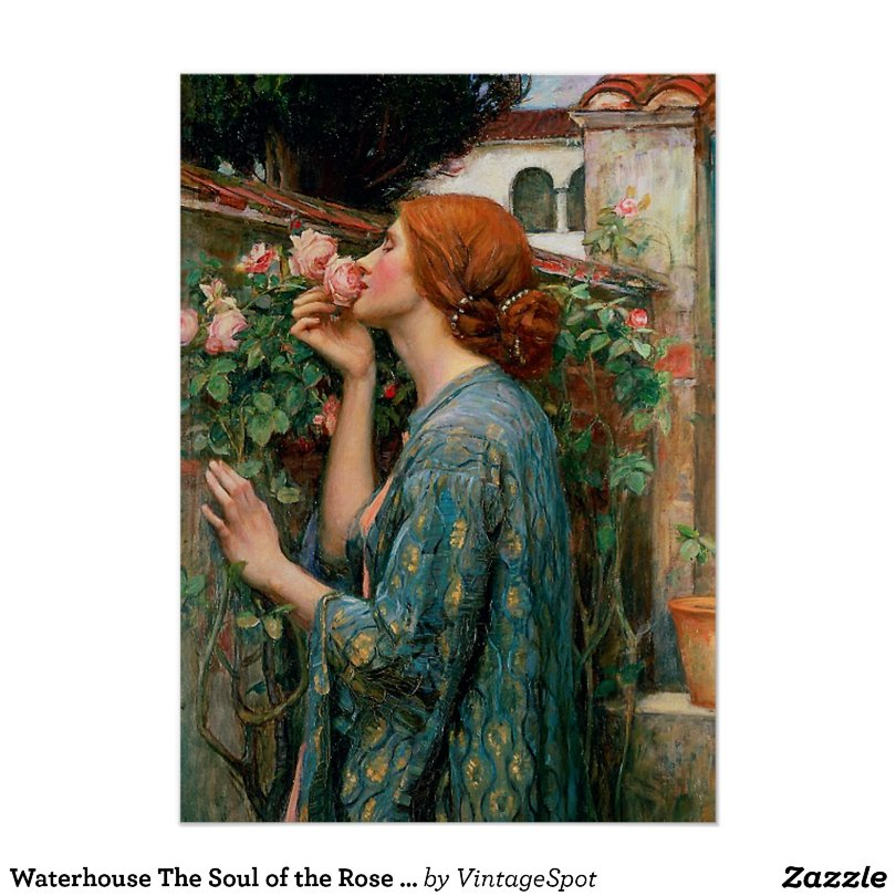 Waterhouse The Soul of the Rose Poster