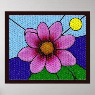 Flower Mosaic Poster