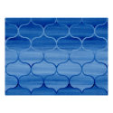 Blue Watercolor Ogee Pattern