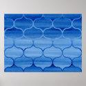 Blue Watercolor Ogee Pattern