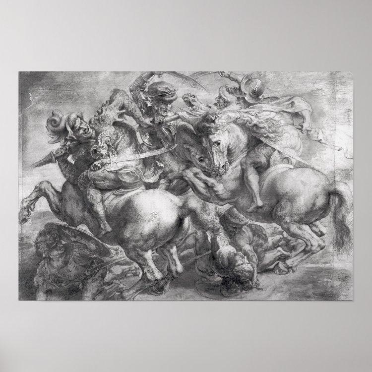 The Battle of Anghiari after Leonardo da Vinci Poster