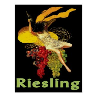 Wine Maid Riesling Poster