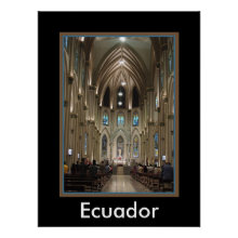 Cathedral-Arches & Glass - Guayaquil, Ecuador Poster