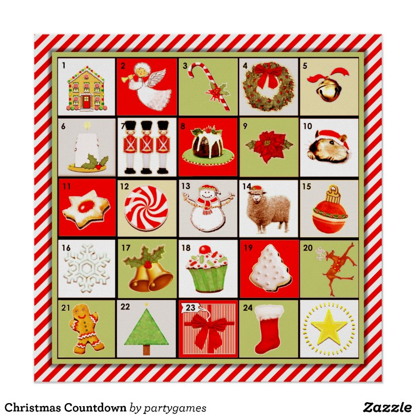 CHRISTMAS COUNTDOWN ACTIVITY POSTER