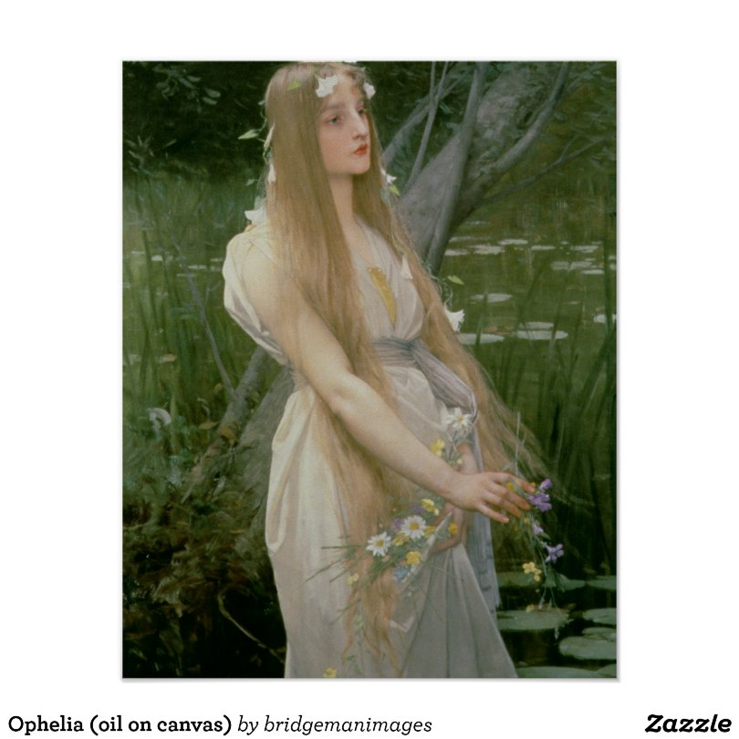 Ophelia (oil on canvas) poster