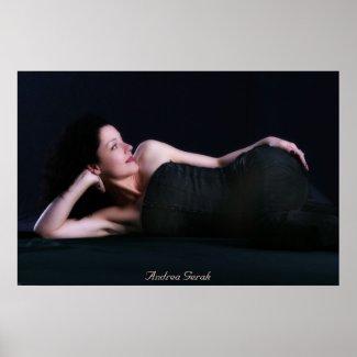 Andrea Gerak Black Portrait Poster