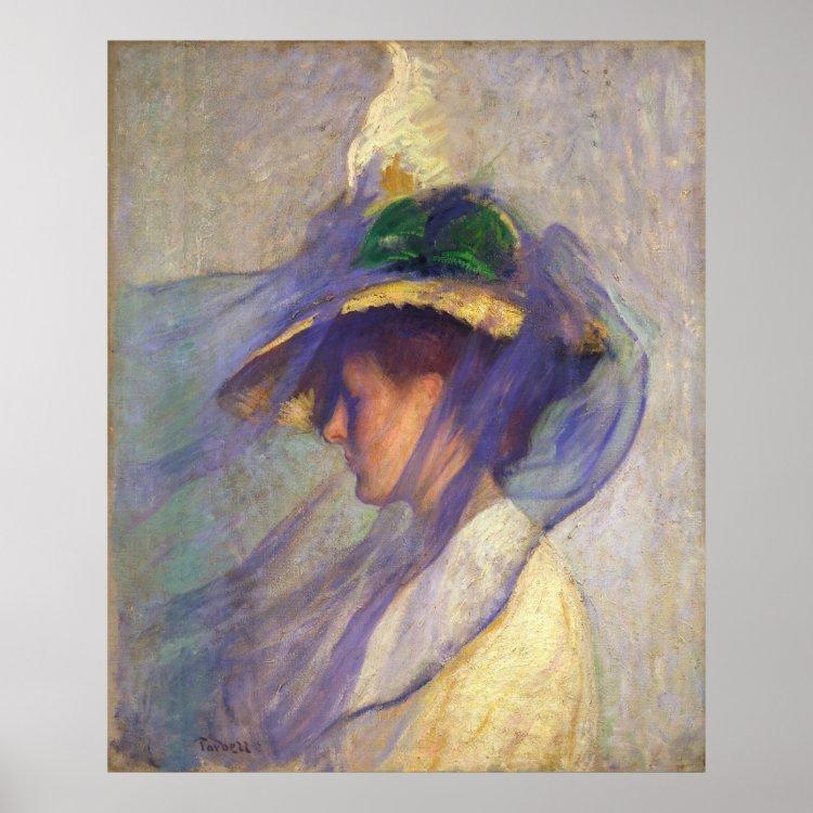 Edmund Tarbell - The Blue Veil Poster