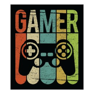 Gamer (Game Controller) Poster