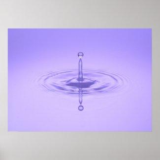 Zen Purple Water Drop Ocean Love Peace Inspiration Poster