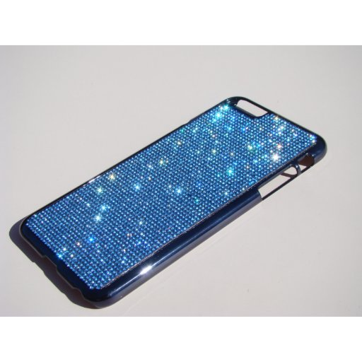 Cool Blue Sapphire Crystal iPhone 6 Plus Gold Case