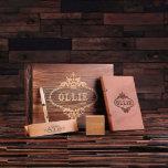 Gift Set w/Box – Digital Clock, Pen Set, Journal