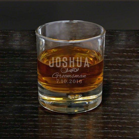 Sleek Classic Engraved Byrne Whiskey Glass