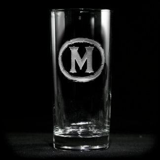 Vidrio con monograma moderno del refrigerador