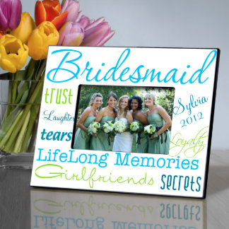 Personalized Blue Bridesmaid Picture Frame