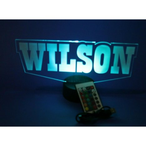 Custom Any Name Made To Order Lamp LED Personalize