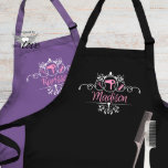 "Personalized Hair Stylist Hairdresser Apron<br><div class=""desc"">Personalized Custom Apron for a hairdresser,  hairstylist,  or cosmetologist. Perfect gift for a holiday,  special birthday,  Mother's Day gift or thinking of you gift.</div>"