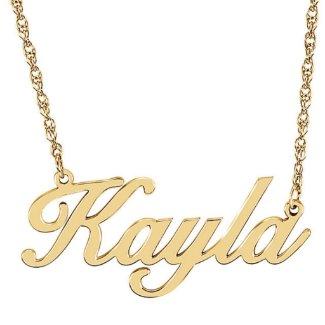 Custom Gold Vermeil Script Name Pendant Necklace