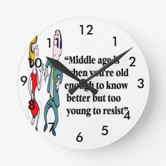 A perfect description of middle age round clock