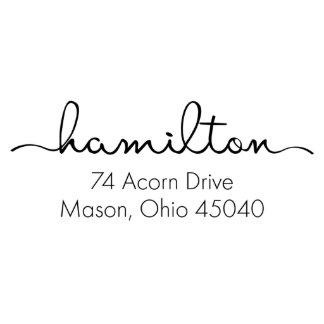 Hamilton return address stamp