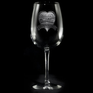 Copa de vino personalizada la mejor mamá