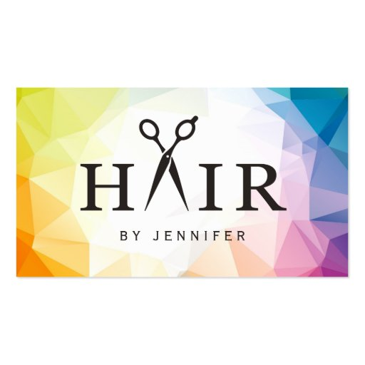 Modern Contemporary Abstract Hair Stylist Salon Double-Sided Standard Business Cards (Pack Of 100)