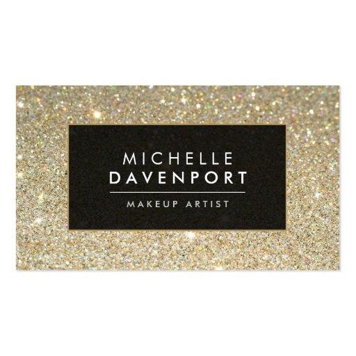 Classic Gold Glitter Makeup Artist Business Card Pack Of Standard Business Cards