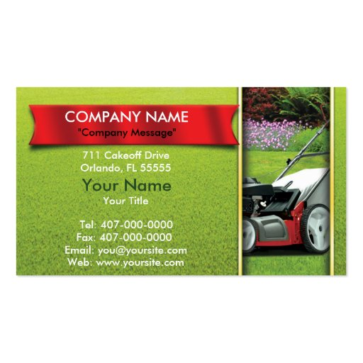 Landscaping Lawn Mower Lawn Care Double-Sided Standard Business Cards (Pack Of 100)