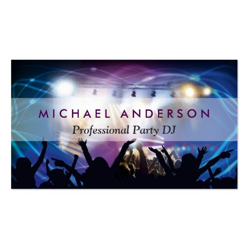 Music DJ Party Concert Planner - Modern Stylish Business Cards (front side)