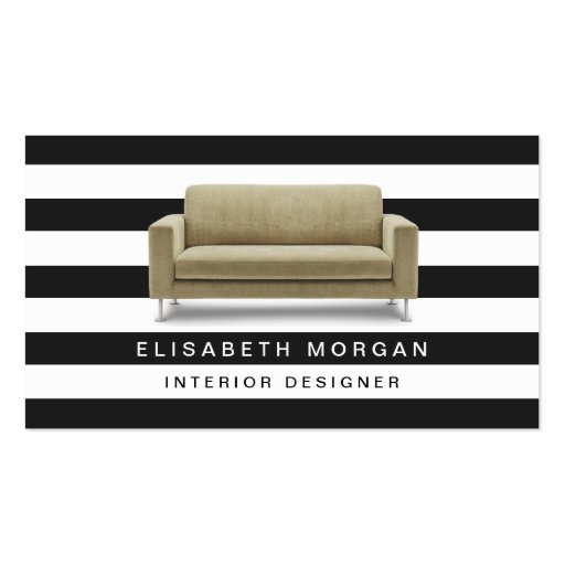 Interior Designer Home Staging - Classic Stripes Double-Sided Standard Business Cards (Pack Of 100)